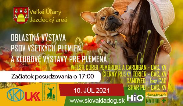 Oblastná výstava psov všetkých plemien, 10.7.2021